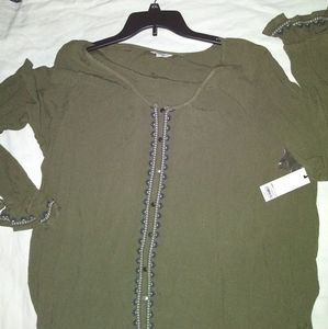 Sonoma green long sleeve blouse size XXL